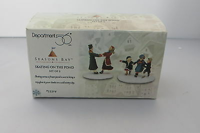"""skating On The Pond"" Dept. 56 Seasons Bay 2 Piece Accessory 53324 - Mib"