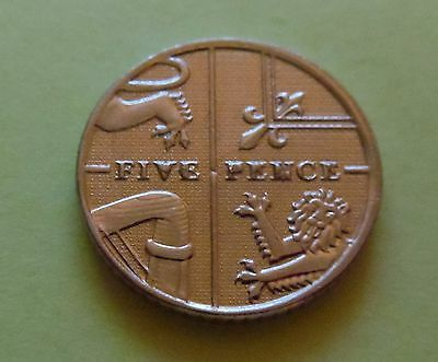 Rare 2013 5p ERROR Coin Five Pence
