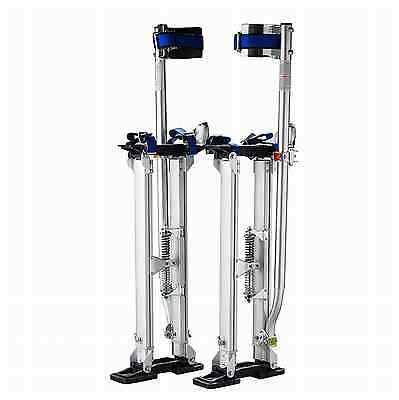 """Adjustable Drywall Stilts 24-40"""" Tool Aluminum Painter Painting Taping Silver"""