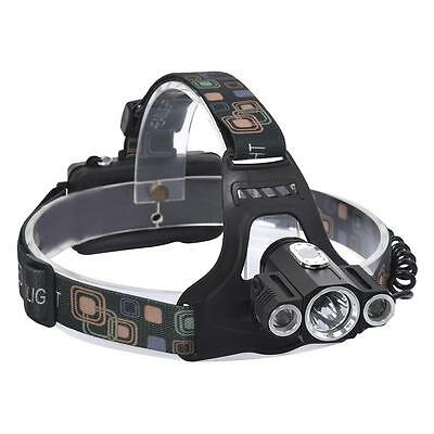 7000 Lm XM-L CREE T6 LED 4 Modes Rechargeable Head Torch Headlamp Lamp Light FT