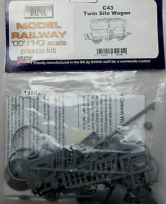Dapol C43 OO/HO Gauge Twin Silo Wagon Model Railway Kit - New - (1966)