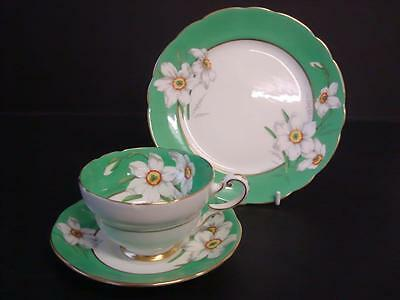 Vintage  Paragon Narcissus  Trio Tea Cup Saucer And Tea /side Plate