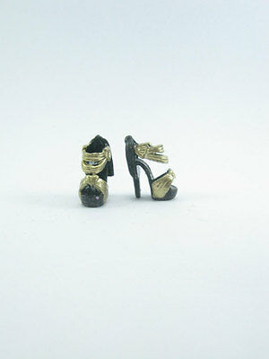 Gold/black Shoe for  Barbie,Fashion Royalty or dolls with similar bodies