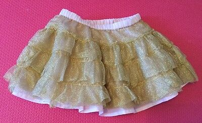 """'Old Navy' BABY GIRL's Gold-Pink TUTU SKIRT (9"""" long) - size: 12-18 months"""
