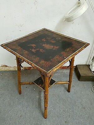 original antique aesthetic movement victorian bamboo table