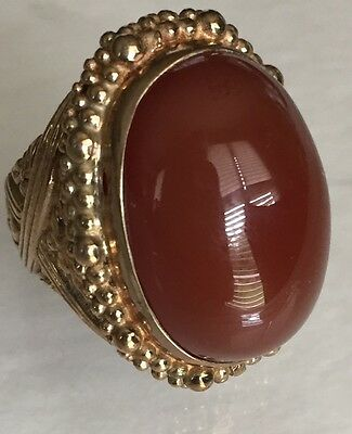 STEPHEN DWECK BRONZE CHALCEDONY COCKTAIL RING, Sz 7