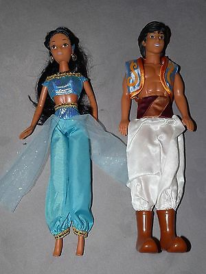 Disney Store - Jasmin And Aladdin Dolls - 12""
