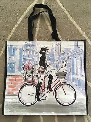 French Bulldog Frenchie Dog Tote Storage Shopping Bag Large Reusable Bicycle