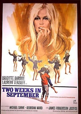 Two Weeks In September (1967) Briggite Bardot One Sheet Poster