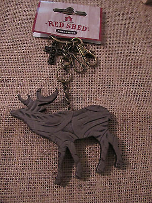 Red Shed: Deer Keychain/ Ornament ..new... Awesome Style