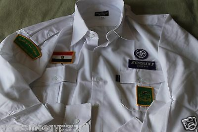 Girl Guides or Scouts of Egypt Official Uniform Shirt with badges and insignias