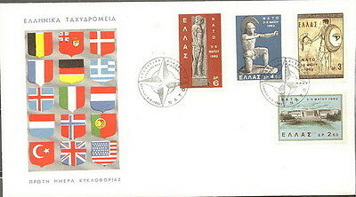 GREECE GREEK 1962 '' N.A.T.O. B '' on FDC