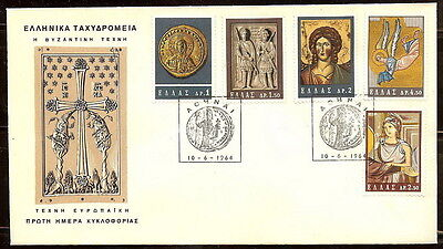 GREECE GREEK 1964 '' BYZANTINE ART EXHIBITION IN ATHENS '' on FDC