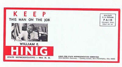 William Hinig Ohio State Representative Political Campaign Advertising Brochure