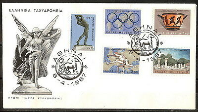 GREECE GREEK 1967 '' SPORTING EVENTS 1967 '' on FDC