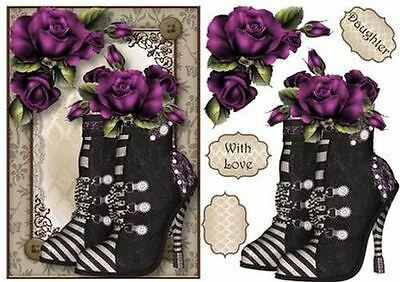 Steampunk Boots & Purple Roses by Anne Lever