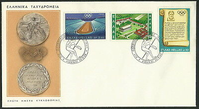 GREECE GREEK 1968 '' OLYMPIC GAMES,MEXICO '' on FDC