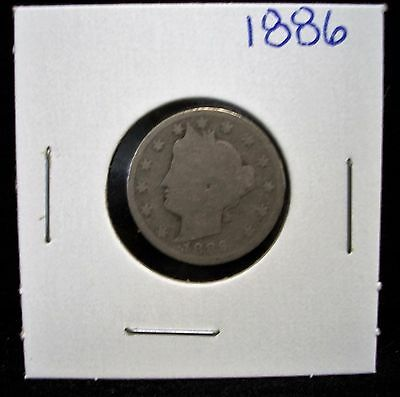 1886 5C Liberty Nickel KEY DATE