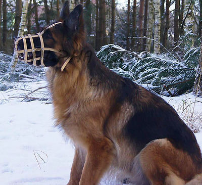 Light leather Dog Muzzle, German Shepherd and Similar Snout , Free Delivery!