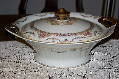 Theodore Haviland France- Clio - Round Covered Serving Bowl (Superior Cond.)