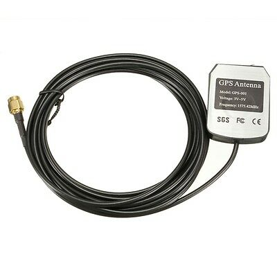 New 3M GPS Antenna Cable Car Auto DVD Player Aerial Connector SMA 1575.42MHz