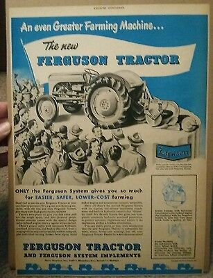 1948 Ferguson Tractor and Implement ad