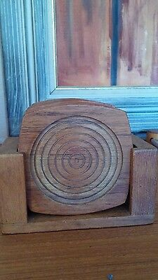 Kalmar Designs INC. Teak Wood Coasters Made In Thailand...Very Lovely Condition