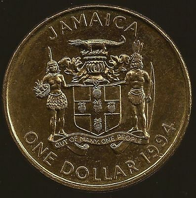JAMAICA - 1994 One Dollar, 1985 25 Cents, 1989 20 Cents