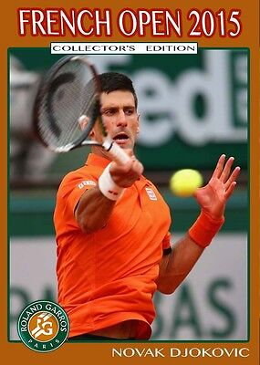 @NEW@ French Open 2015 NOVAK DJOKOVIC Collector's edition tennis card.