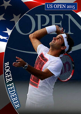 @NEW@ ROGER FEDERER US OPEN 2015 -Collector's edition tennis card-