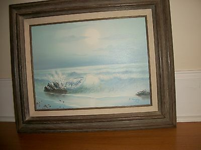 . ORIGINAL OIL ON CANVAS PAINTING  by Murphy Seascape  ocean  signed framed