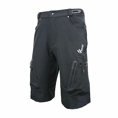 New ARSUXEO Mens Sports Pants Cycling Clothing Bike Bicycle Shorts Black XL