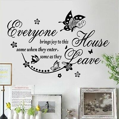 DIY Removable Mural Wall Quote Art Words Decals Sticker Room Home Decor Vinyl HP