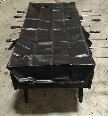 Black Naugahyde Foosball Table Cover with Free Shipping