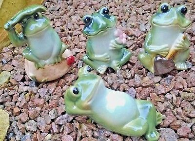 Beautiful Frog Shiny Ceramic Garden Ornament Wall Hanging patio decoration Home
