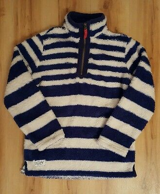 Joules Boys Striped Fleece Top. Age 9-10 years