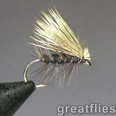1 dozen (12) - Elk Hair Caddis - BLACK