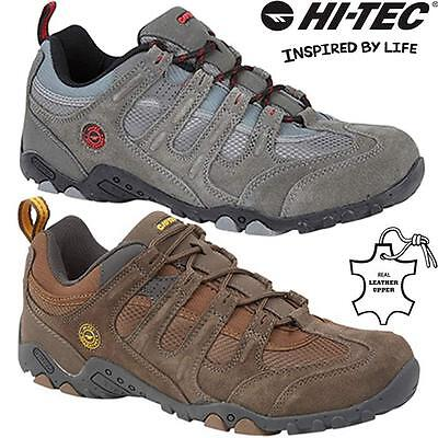 Mens Hi Tec Leather Walking Hiking Trainers Trekking Boots Running Shoes Size