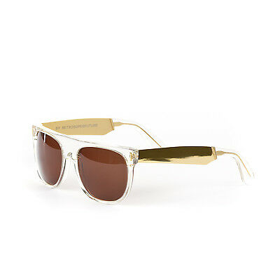 b9f57fd7ae Retrosuperfuture Flat Top Francis Crystal Gold Sunglasses SUPER-893 55mm