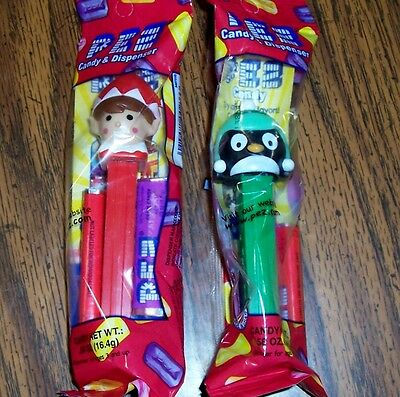 "Pez Penguin  ""green"", Elf ""red"" Christmas 2016 New Colors"
