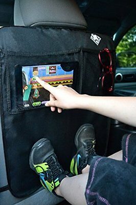 Car Seat Back Protector Covers Kick Mat Vehicles Black Play Tablet Kids 2 Pack .