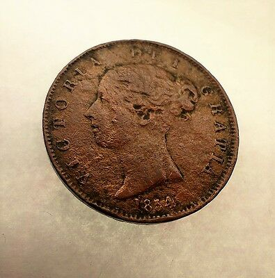 1854-One Penny Victoria