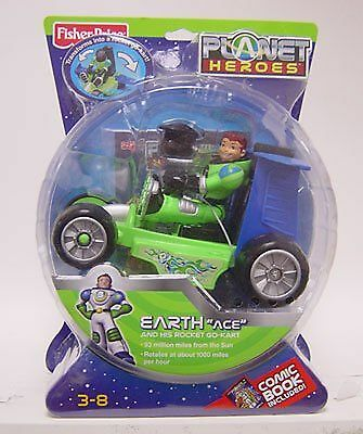 Planet Heroes - Earth (Ace with Cart) New