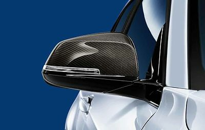 BMW M Performance Genuine Carbon Wing Mirror Caps 1/3/4/X1 Series PAIR