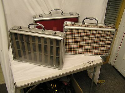 display carry case briefcase  watches, fishing lures hobbyist collector used x 3