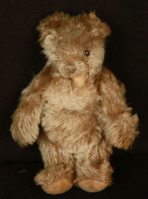 """Vintage Cute Steiff Zotty 6 1/2"""" Mohair Jointed Teddy Bear Signed Button Old"""