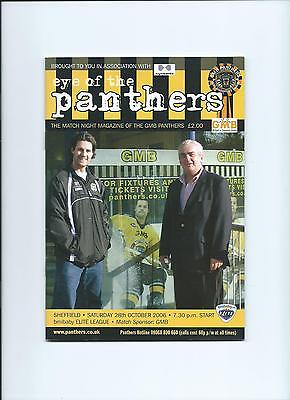 06/07 Nottingham Panthers v Sheffield Steelers  Oct 28th