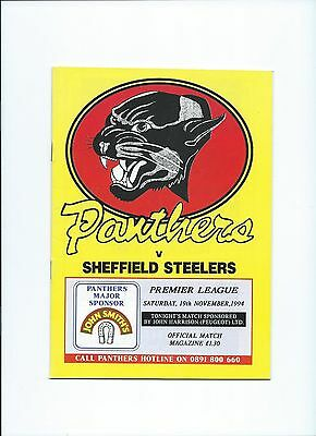 94/95 Nottingham Panthers v Sheffield Steelers  March 25th
