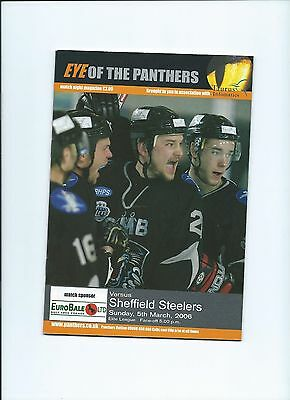 05/06 Nottingham Panthers v Sheffield Steelers   March 5th
