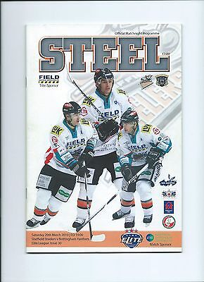 09/10 Sheffield Steelers  v  Nottingham Panthers  March 20th